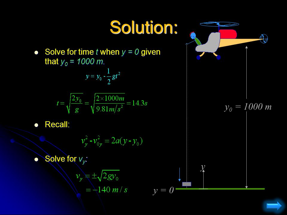 Solution: First choose coordinate system.First choose coordinate system.