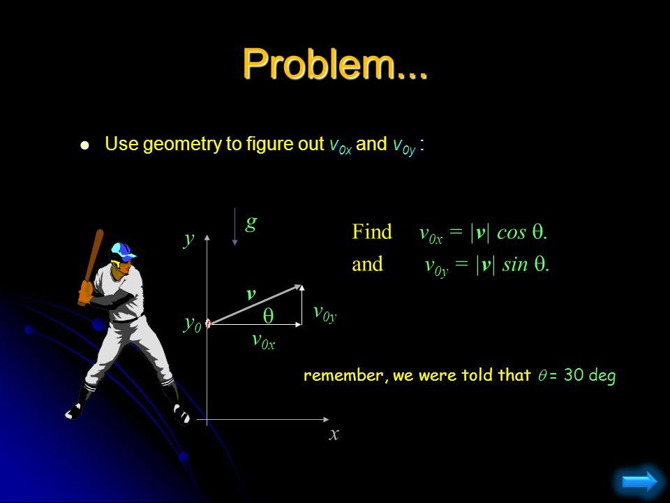 Problem...Choose y axis up. Choose y axis up.