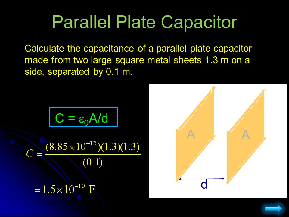 Dielectric Placing a dielectric between the plates increases the capacitance.