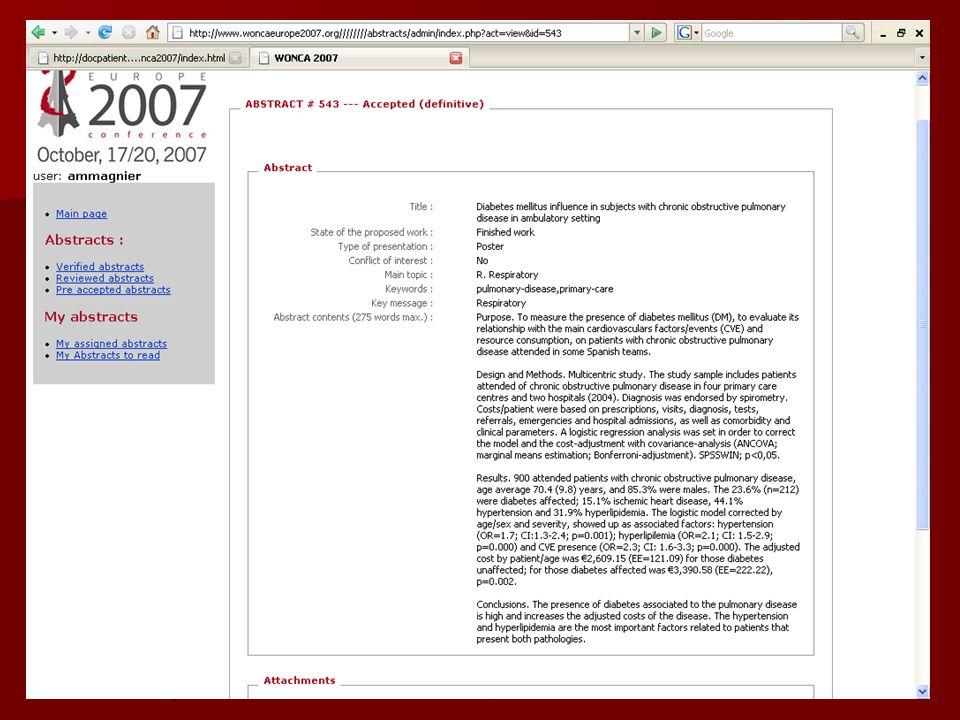 Wonca 2007 m.j.3C GP/FM19 Ecran wonca 2007 avec 1 abstract à inserer ici