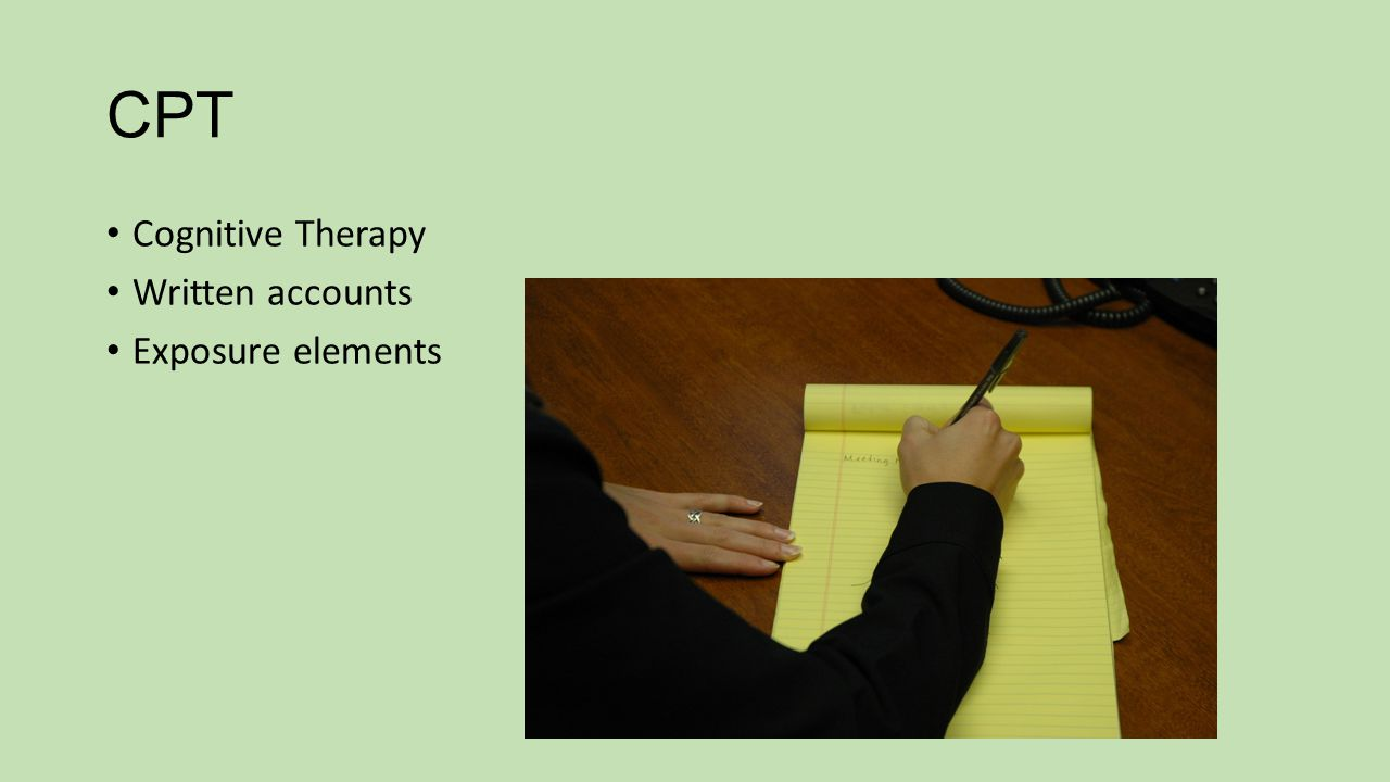CPT Cognitive Therapy Written accounts Exposure elements