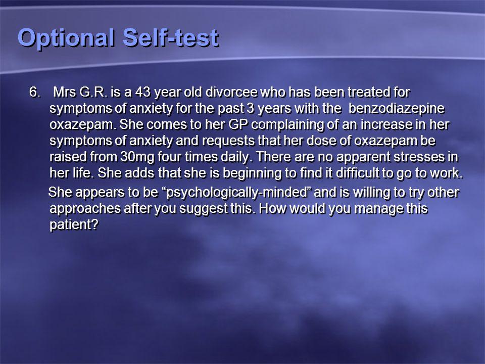 Optional Self-test 6.Mrs G.R.
