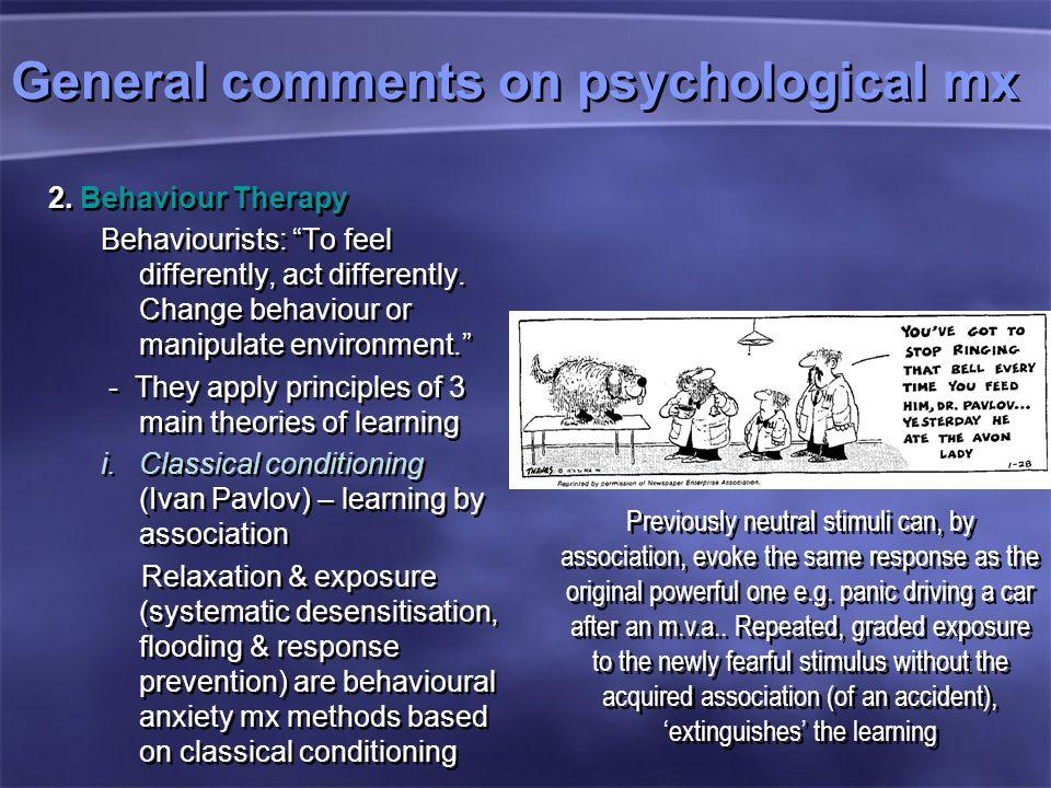General comments on psychological mx 2.