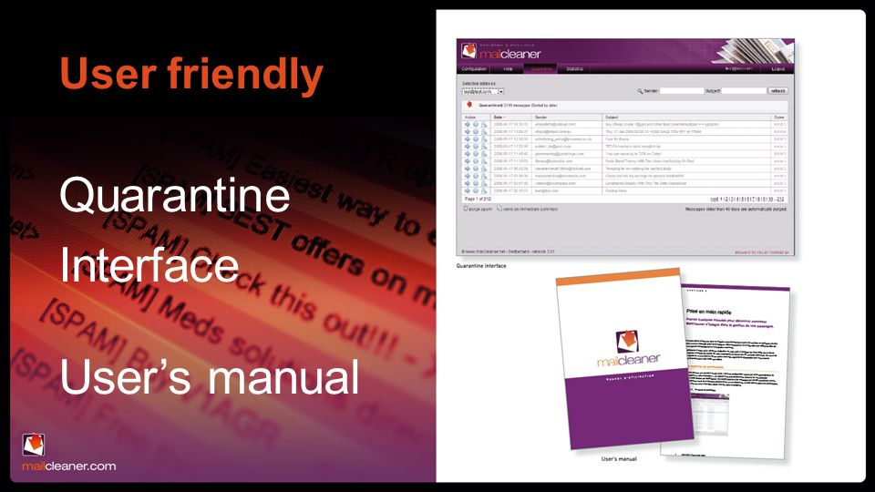 User friendly Quarantine Interface User's manual