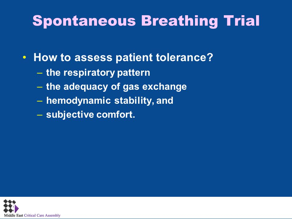 How to assess patient tolerance.
