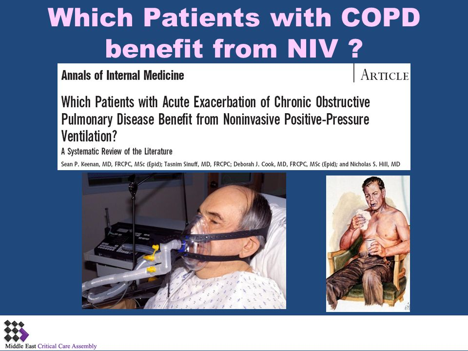 Which Patients with COPD benefit from NIV ?