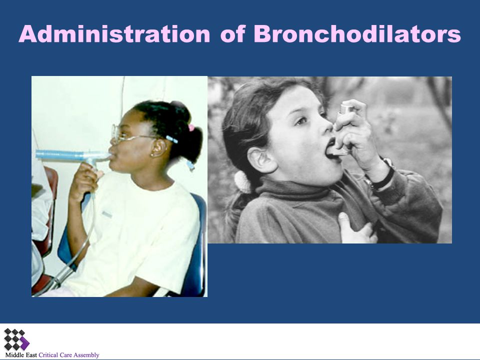 Administration of Bronchodilators