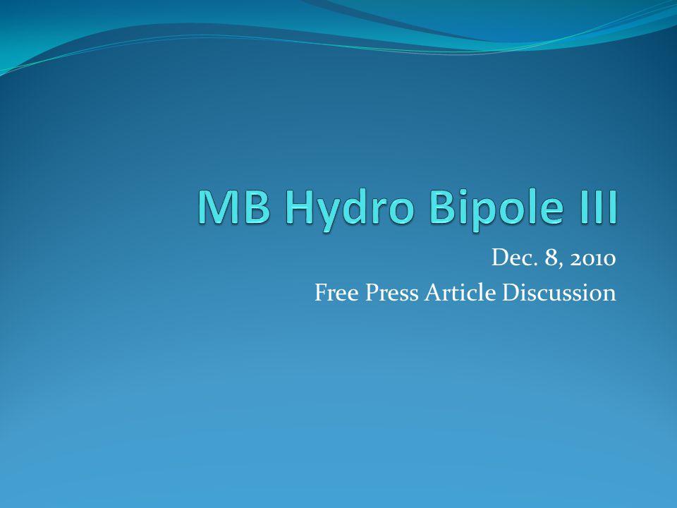 Dec. 8, 2010 Free Press Article Discussion