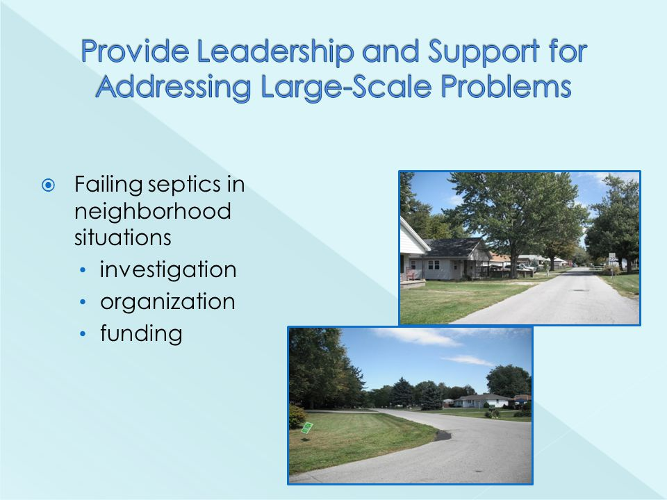  Failing septics in neighborhood situations investigation organization funding