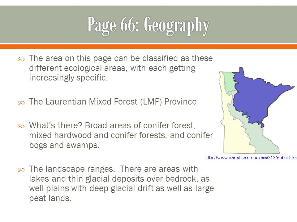  The area on this page can be classified as these different ecological areas, with each getting increasingly specific.
