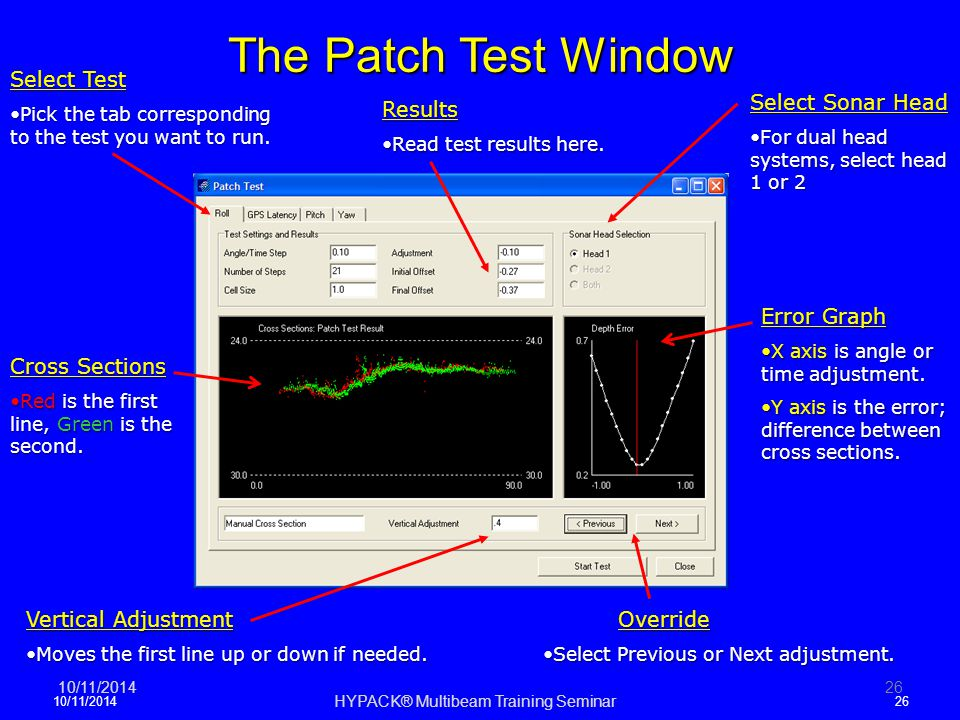 The Patch Test Window 10/11/201426 Select Test Pick the tab corresponding to the test you want to runPick the tab corresponding to the test you want t