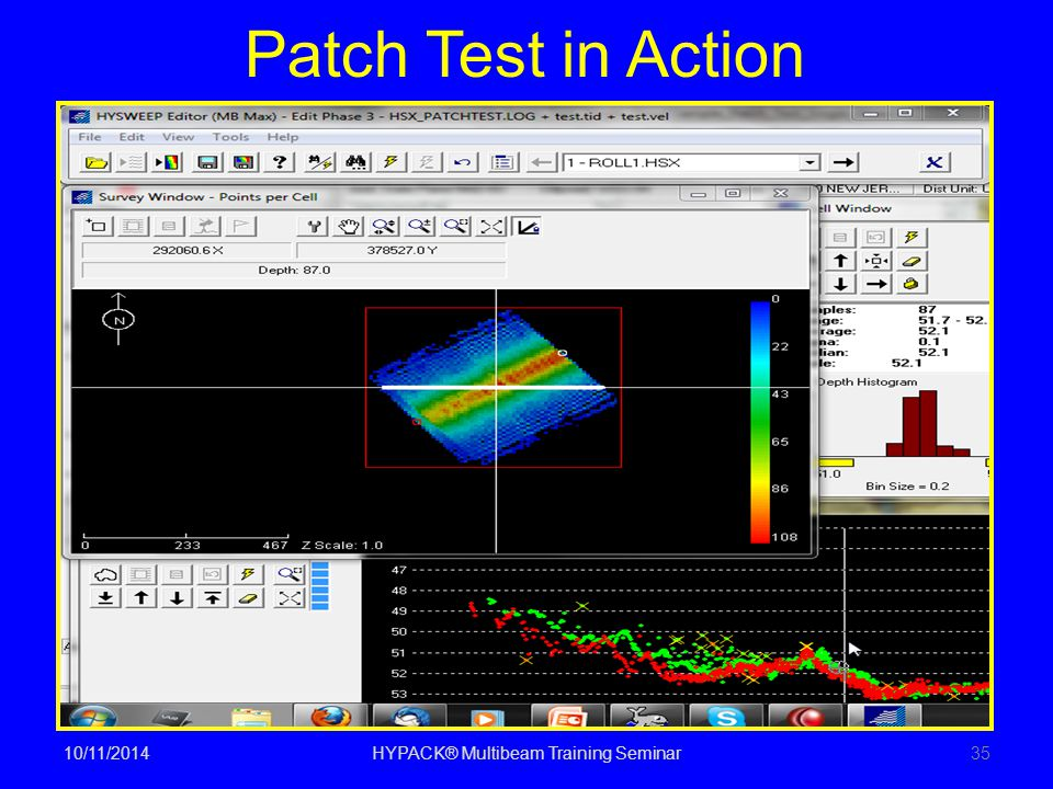 Patch Test in Action 10/11/2014HYPACK® Multibeam Training Seminar35