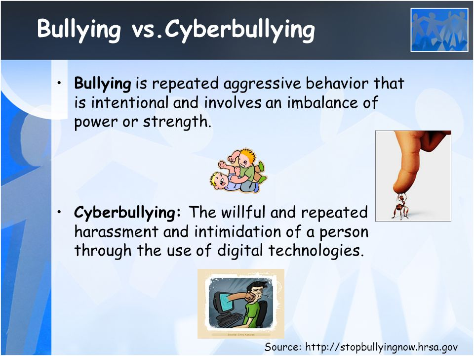 Where does cyberbullying occur.