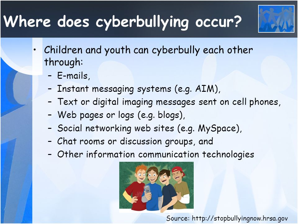 Cyberbullying Laws The federal government and most states do not recognize cyberbullying as a crime.