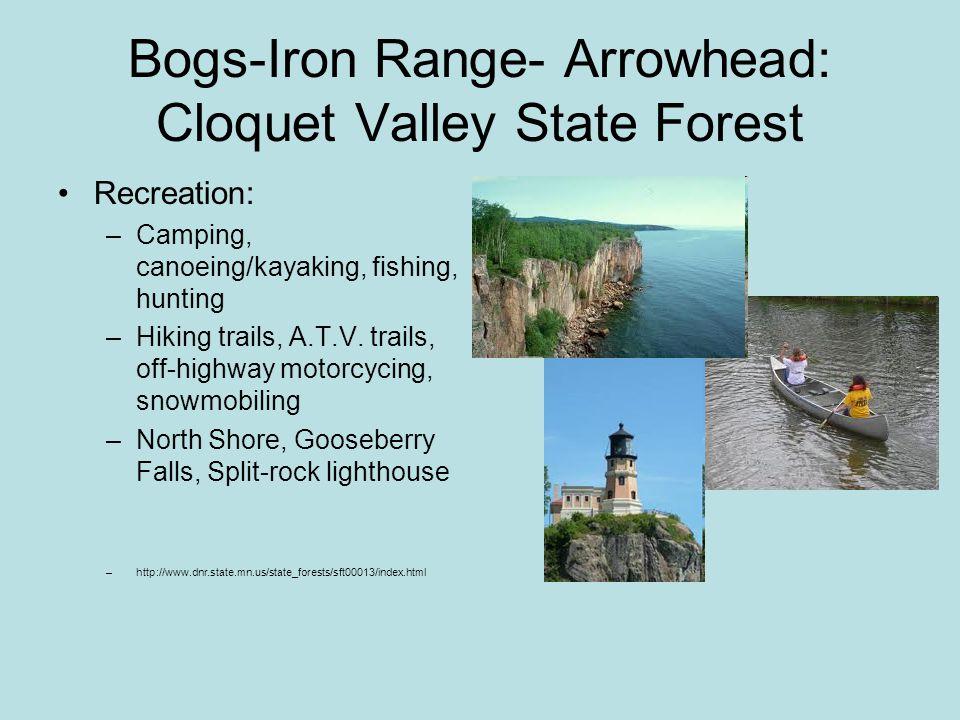 Bogs-Iron Range- Arrowhead: Duluth How Duluth got its name: –Original inhabitants, Ojibwe and Sioux, settled near Lake Superior.