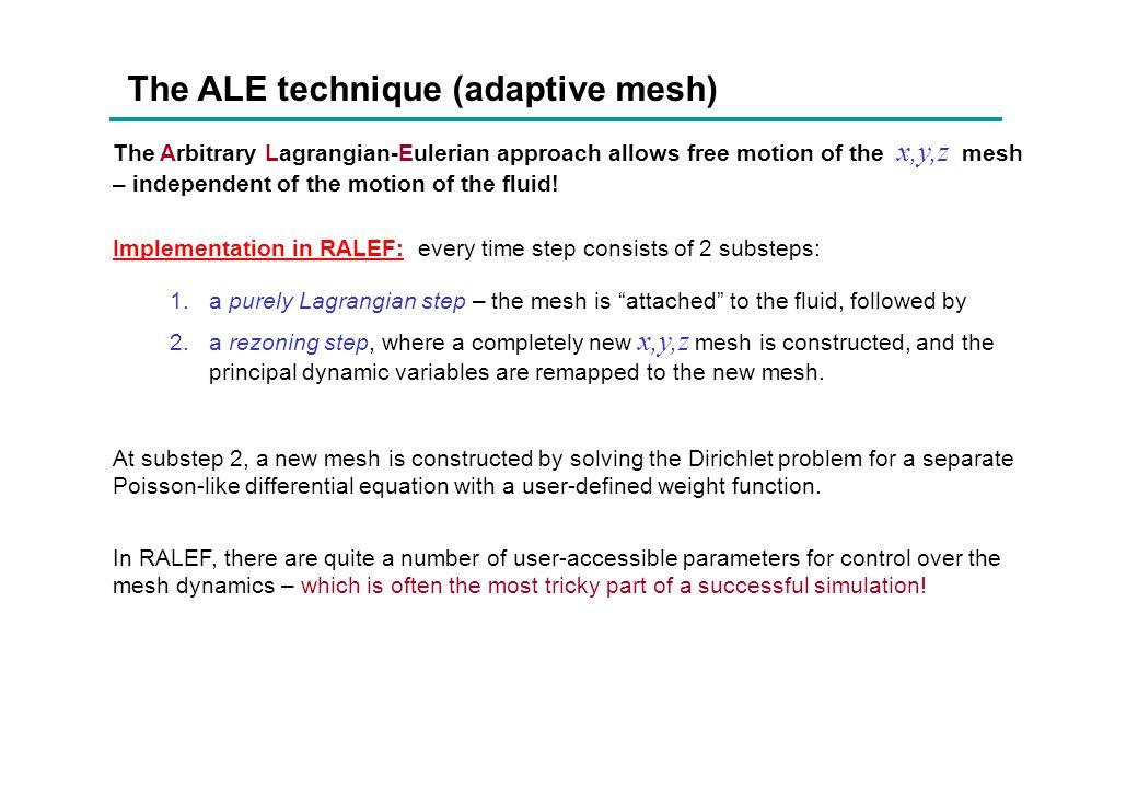The Godunov numerical method  i, u i, E i No artificial viscosity is needed .