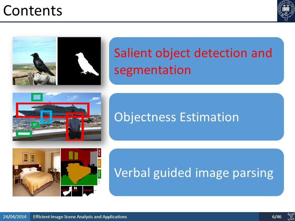 Efficient Image Scene Analysis and Applications24/04/201417/46 Applications [ACM TOG 09, Chen et.