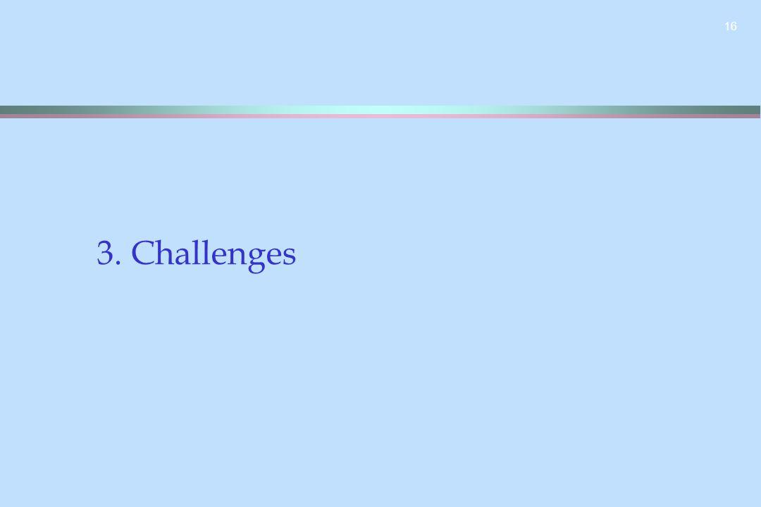 16 3. Challenges