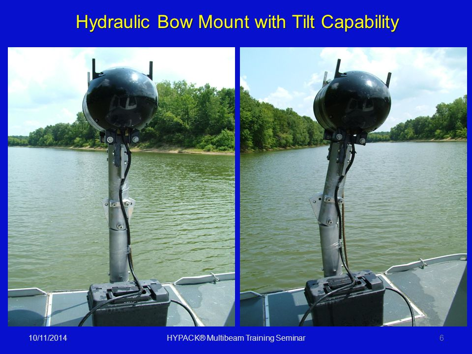 10/11/2014HYPACK® Multibeam Training Seminar6 Hydraulic Bow Mount with Tilt Capability