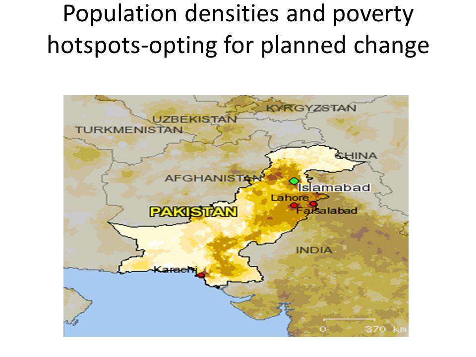 Population densities and poverty hotspots-opting for planned change