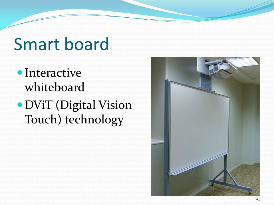 Smart board Interactive whiteboard DViT (Digital Vision Touch) technology 23