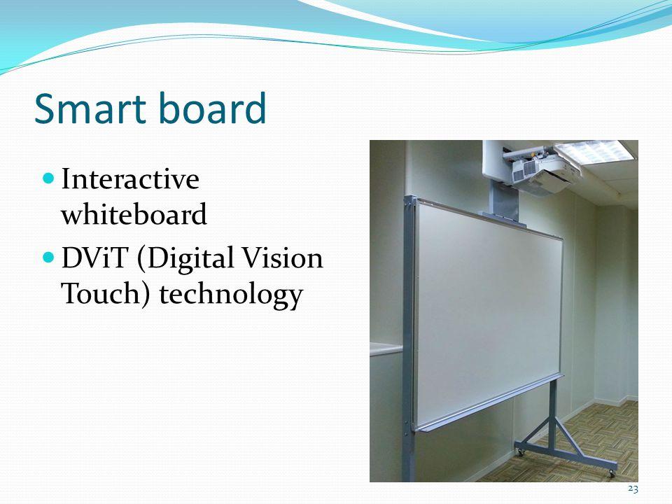 Smart board Interactive whiteboard DViT (Digital Vision Touch) technology 23