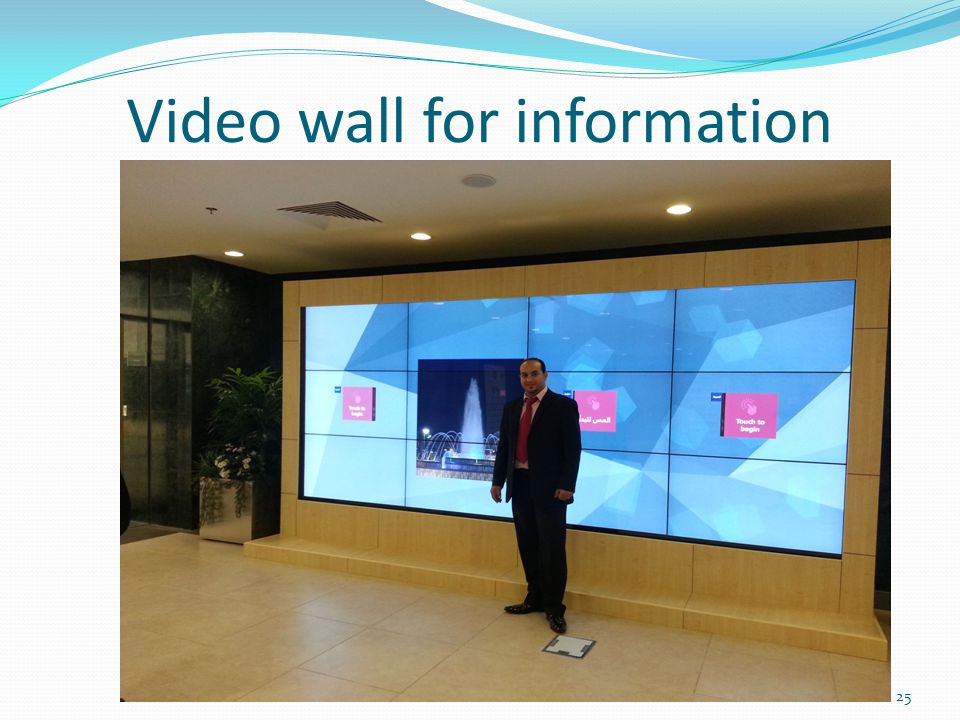 Video wall for information 25