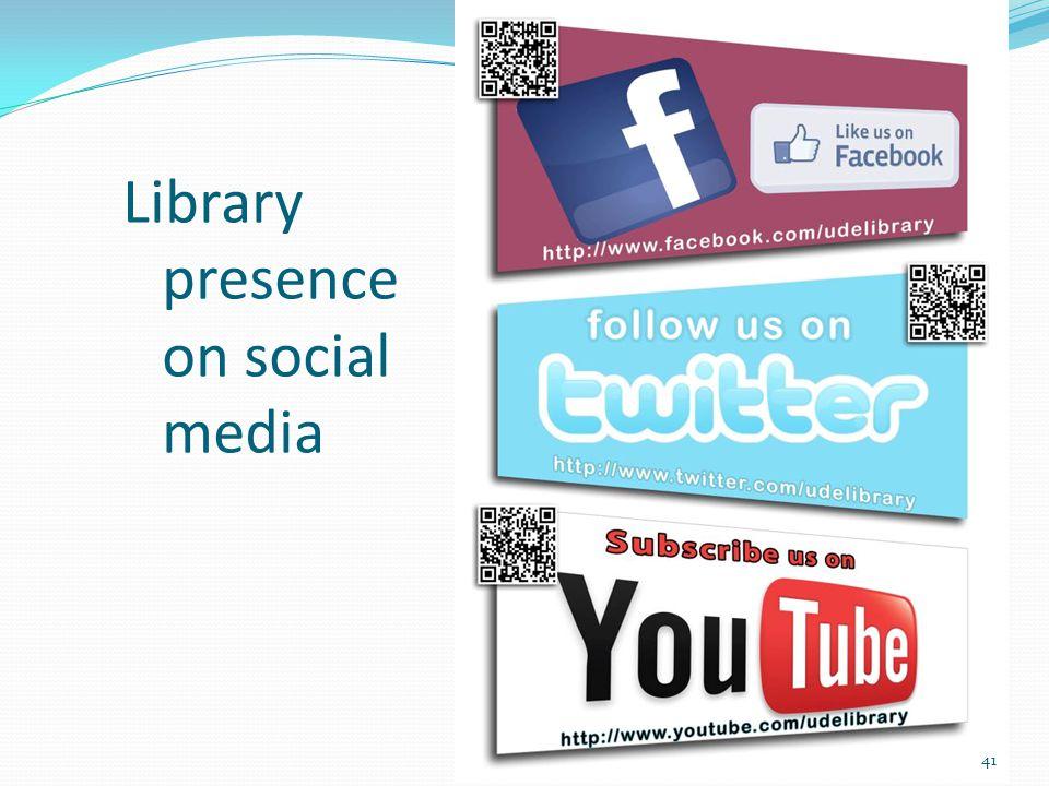Library presence on social media 41