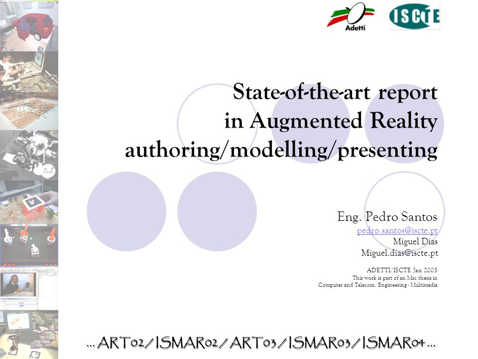 State-of-the-art report in Augmented Reality authoring/modelling/presenting Eng.