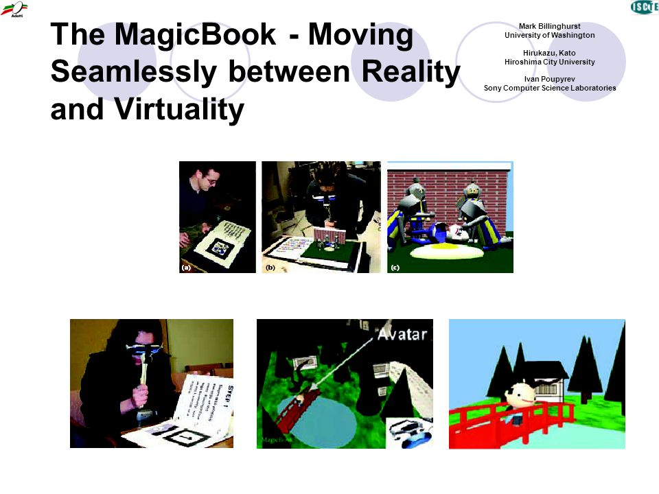 The MagicBook - Moving Seamlessly between Reality and Virtuality Mark Billinghurst University of Washington Hirukazu, Kato Hiroshima City University Ivan Poupyrev Sony Computer Science Laboratories