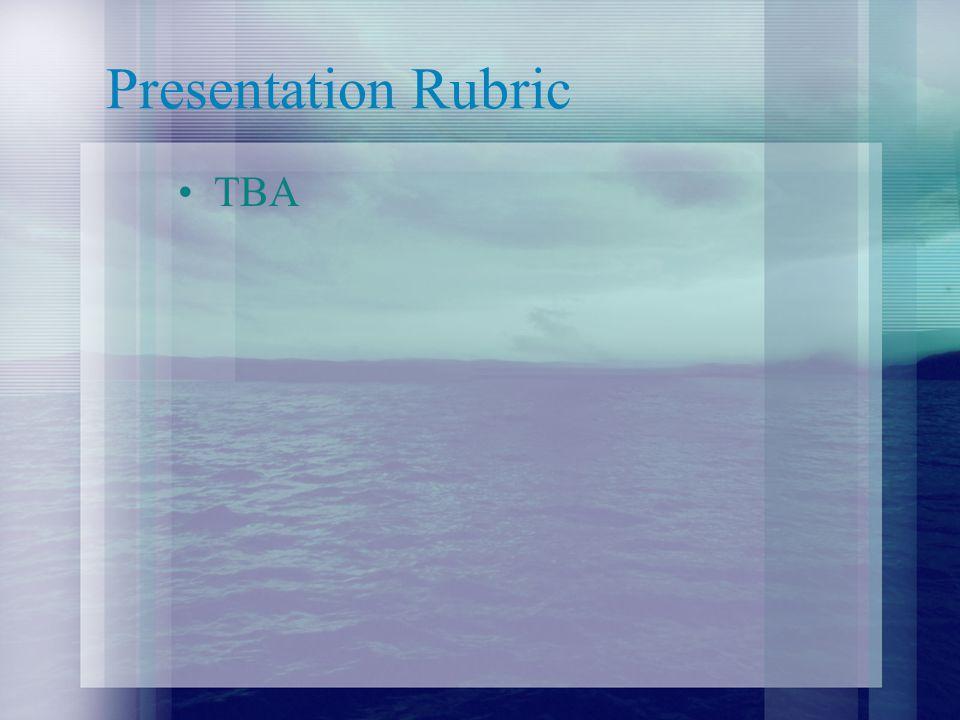 Presentation Rubric TBA