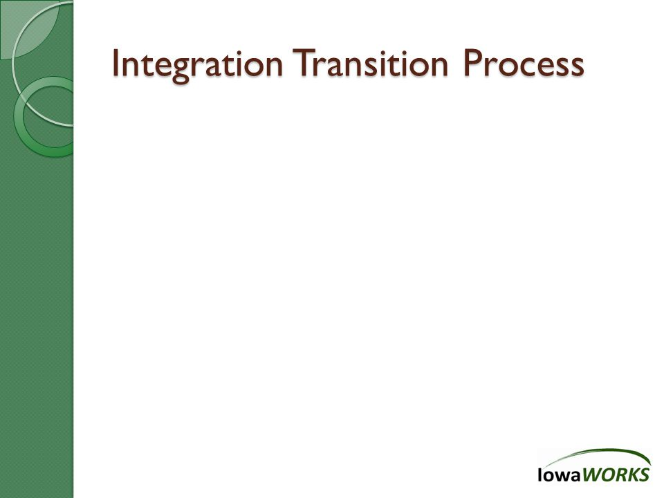 Integration Transition Process