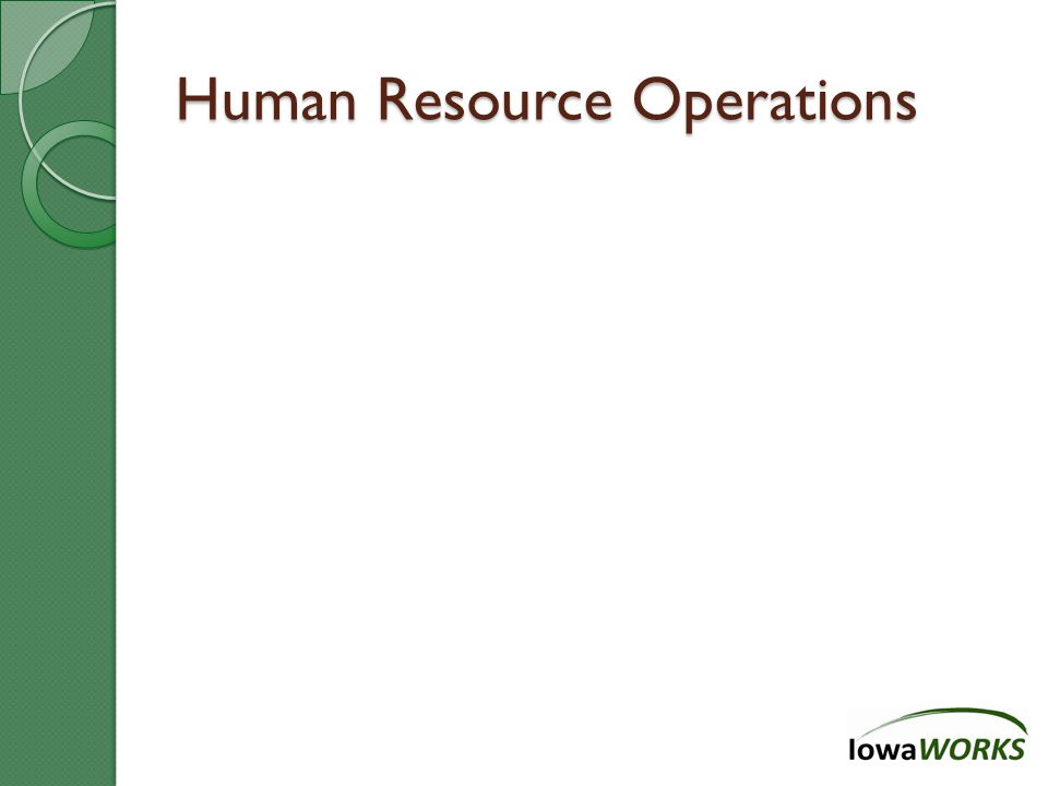 Human Resource Operations