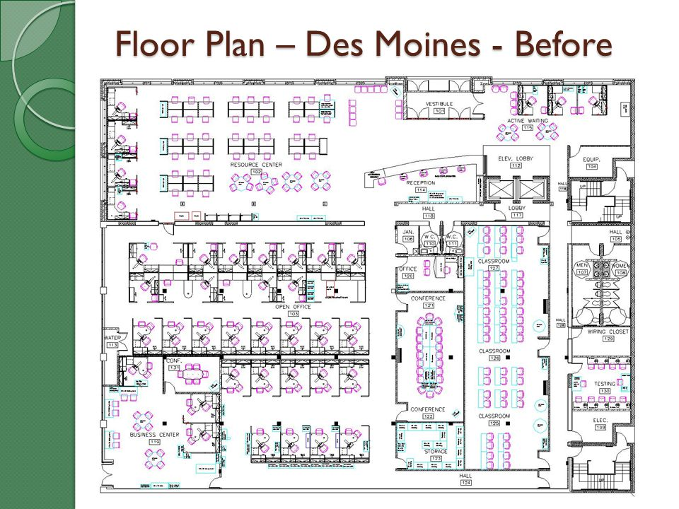 Floor Plan – Des Moines - Before