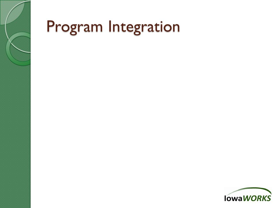 Program Integration