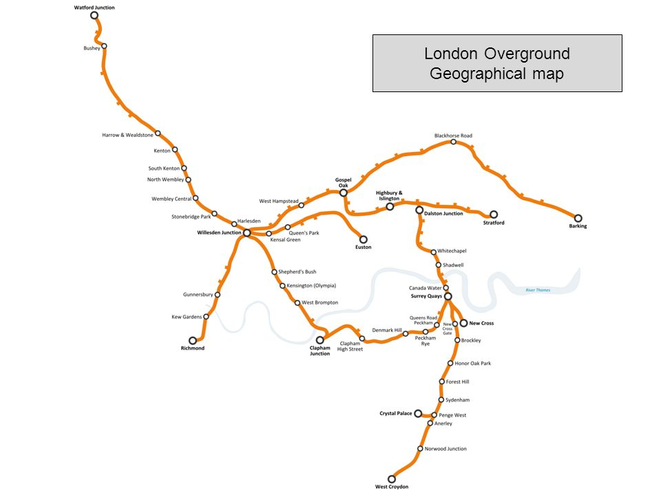 London Overground Geographical map