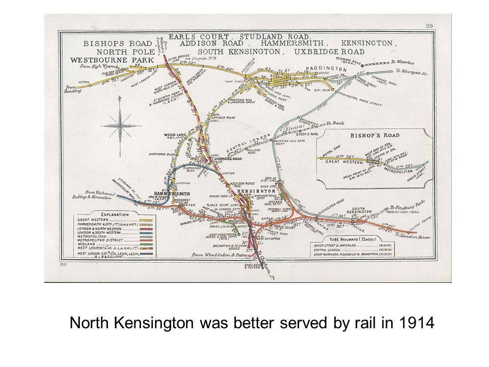 North Kensington was better served by rail in 1914