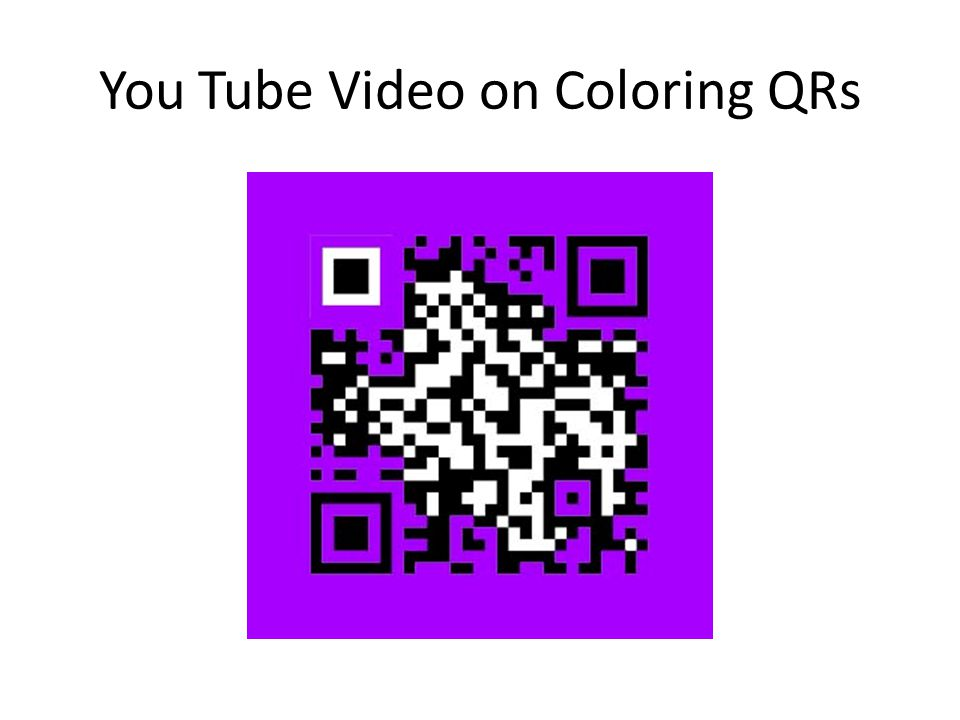You Tube Video on Coloring QRs