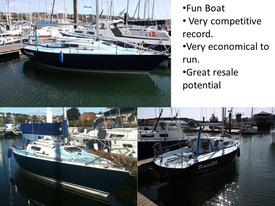 Fun Boat Very competitive record. Very economical to run. Great resale potential