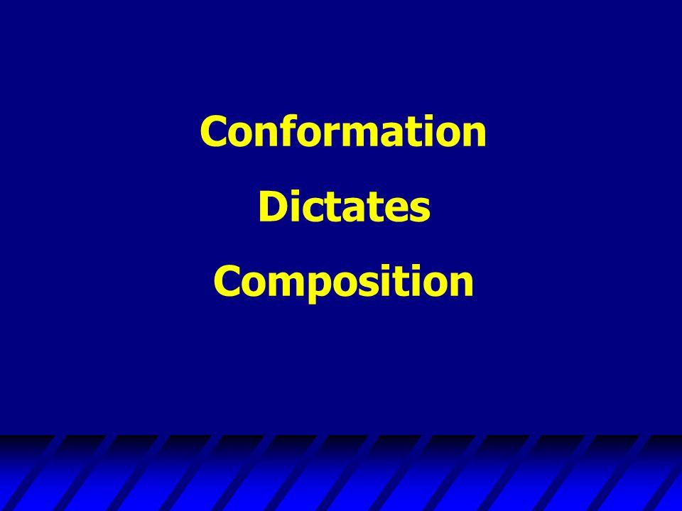 Conformation Dictates Composition