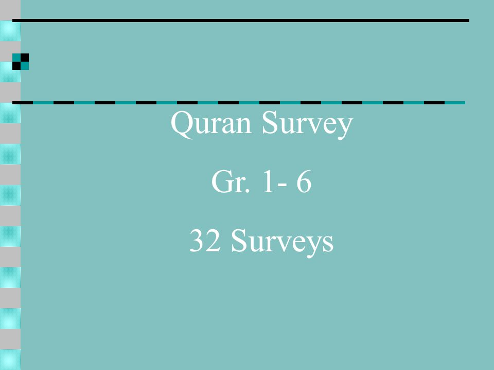 Quran Survey Gr. 1- 6 32 Surveys
