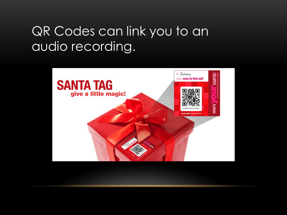 QR Codes can link you to an audio recording.
