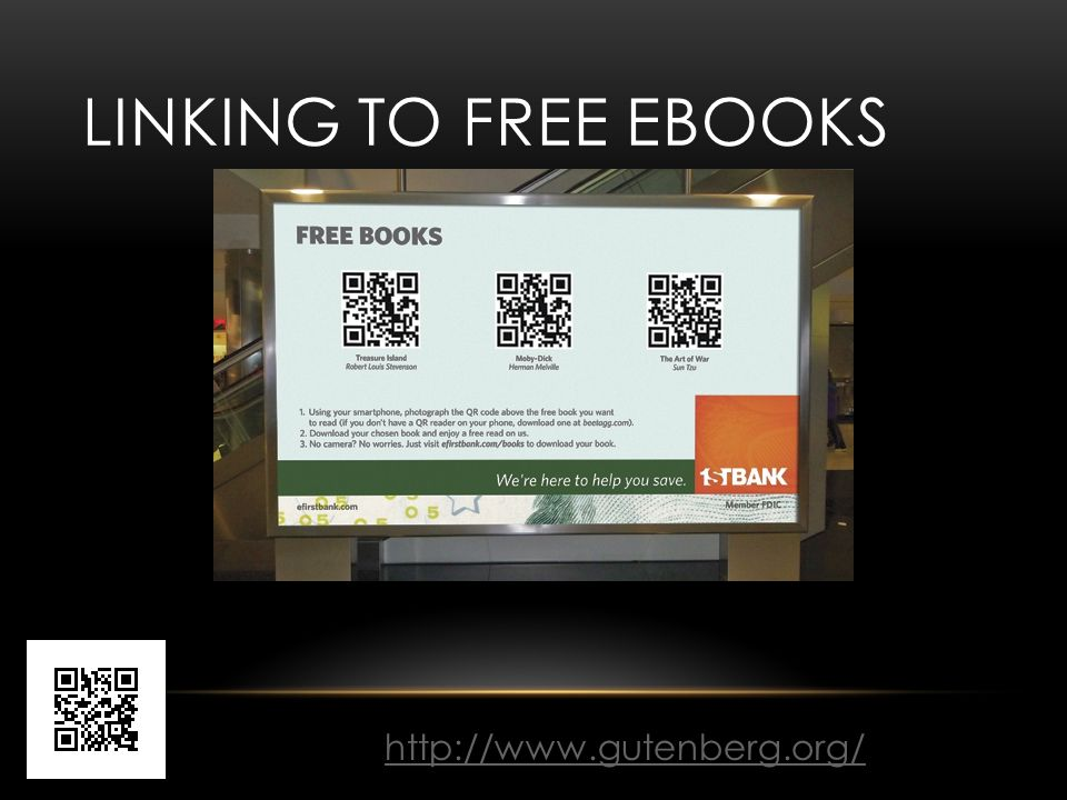LINKING TO FREE EBOOKS http://www.gutenberg.org/