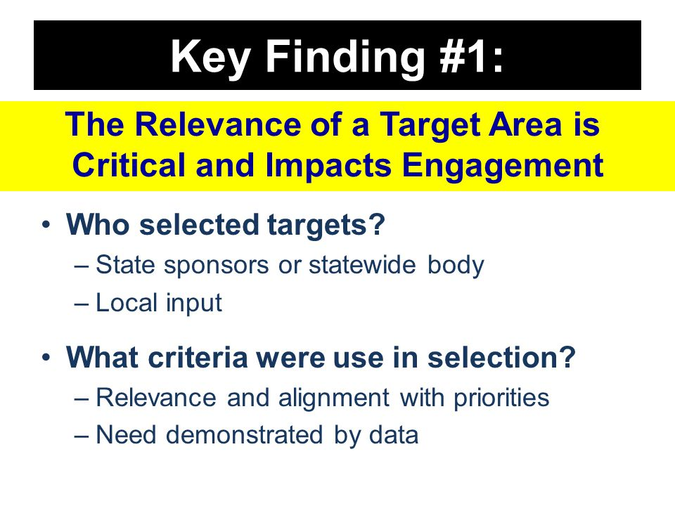 Key Finding #1: Who selected targets.