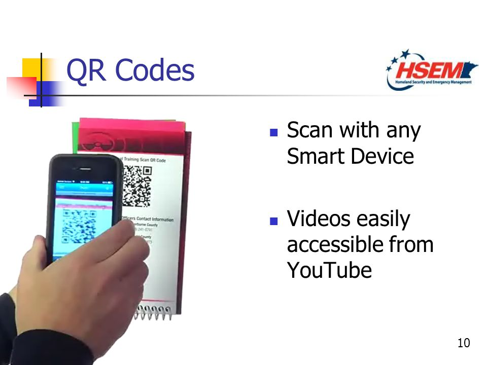 10 QR Codes Scan with any Smart Device Videos easily accessible from YouTube Scan with any Smart Device Videos easily accessible from YouTube