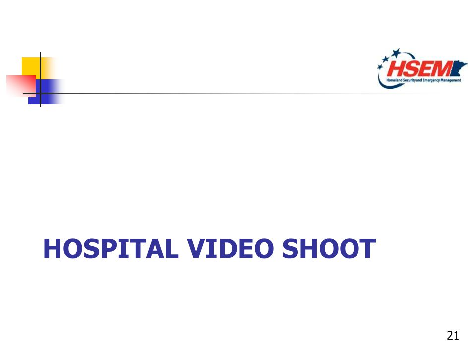 21 HOSPITAL VIDEO SHOOT