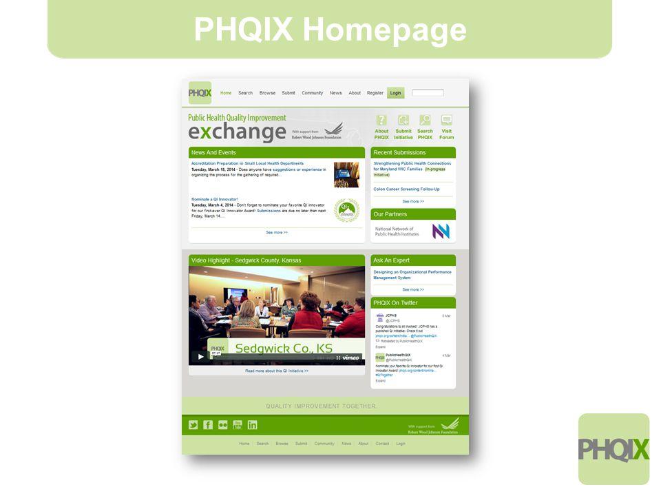 6 PHQIX Homepage