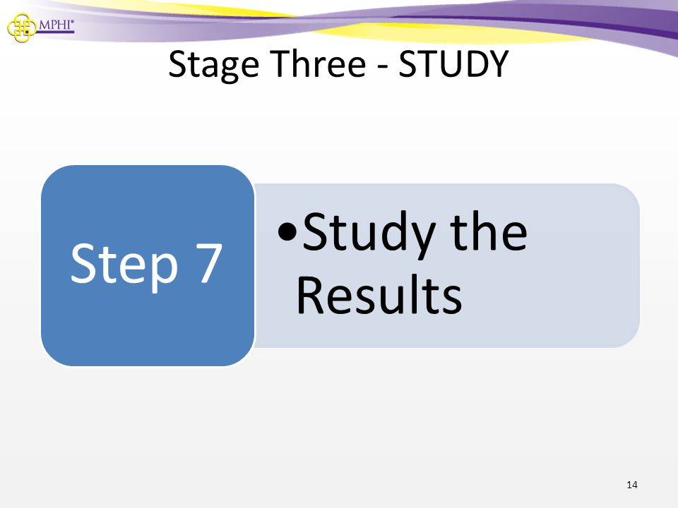 Stage Three - STUDY 14 Study the Results Step 7