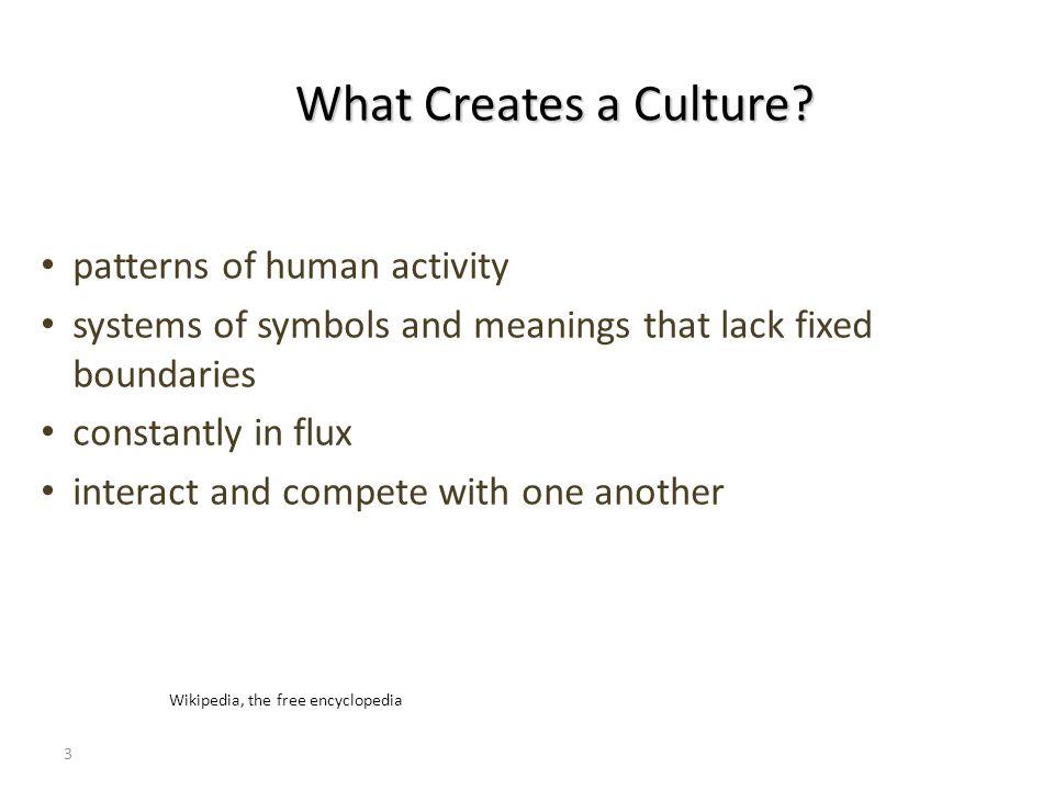 3 What Creates a Culture.