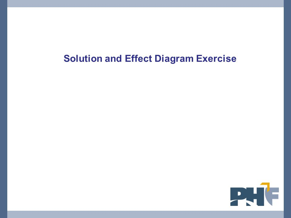 Solution and Effect Diagram Exercise